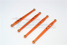 4PCS/SET GMP RACING SCX049R-OR ALLOY REAR CHASSIS LINKS PARTS TREE FOR AXIAL SCX10 90046 gpm racing axial scx10 ii ax90046 aluminium chassis lift up combo