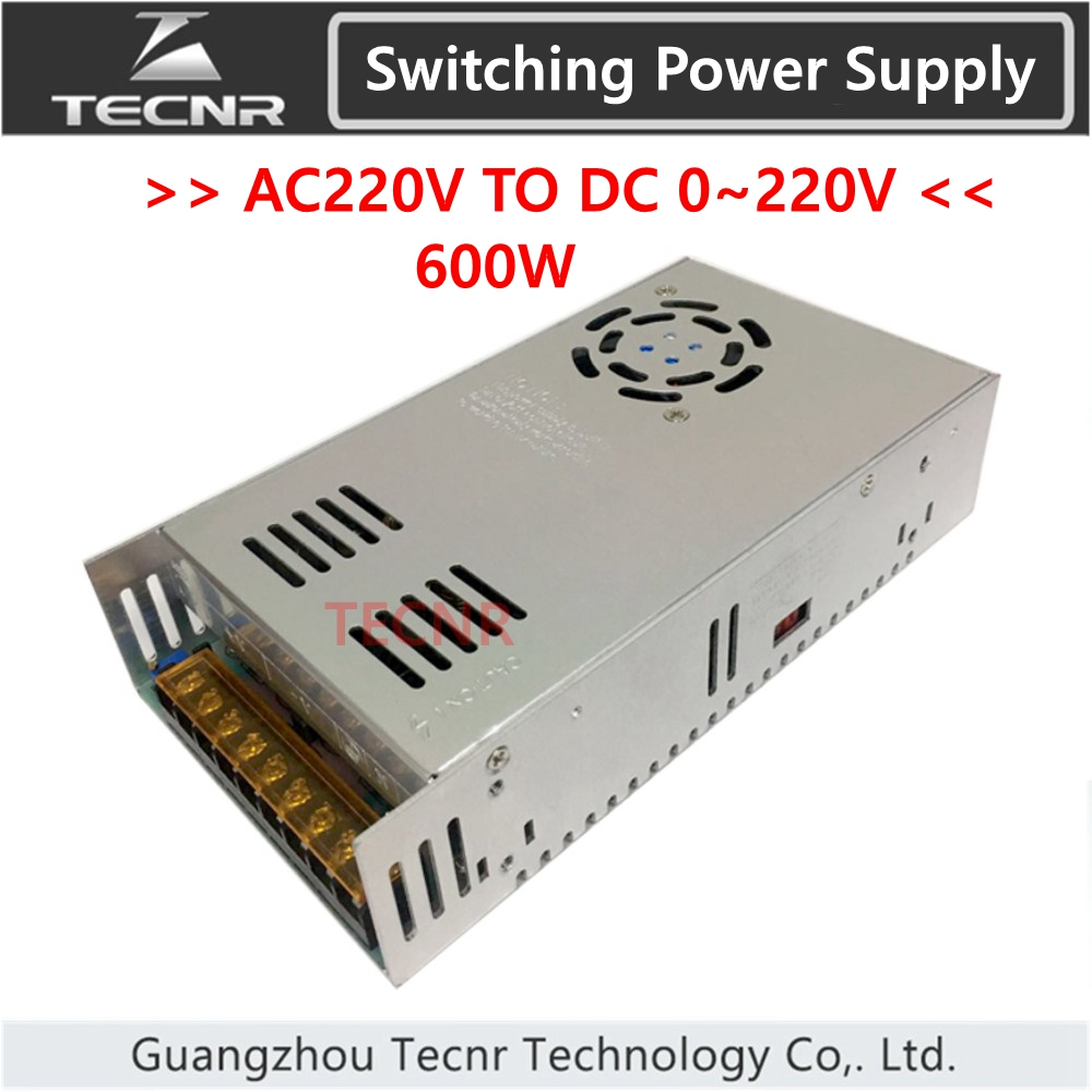Switching Power Supply 600W input AC220V output DC 0-12V 24V <font><b>36V</b></font> 48V 60V 70V 80V 110V 150V <font><b>transformer</b></font> for cnc engraving machine image