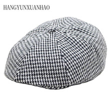 Flat Cap Wool Vintage Cabbie Hat Tweed Newsboy Men Women Classic Retro with Soft Lining Driver Flap
