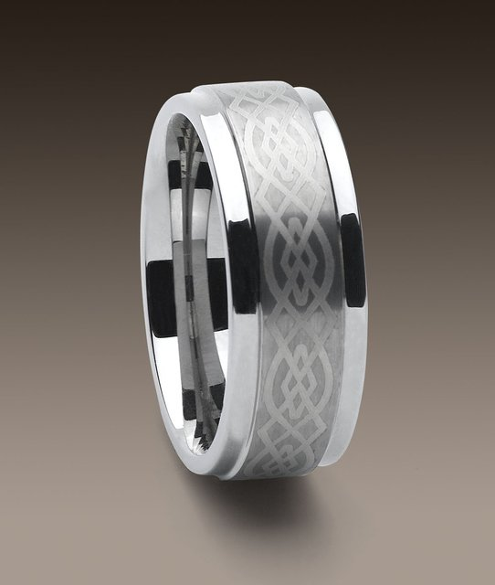 Wholesale New Guaranteed 100% 9MM Tungsten Carbide laser Logo Wedding Band Ring + free shipping