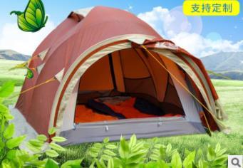 Двойная четырехсезонная туннельная палатка вручную настроенная наружная палатка Двойная палатка для кемпинга