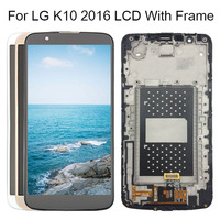 5.3 Display For LG K10 LCD Touch Screen With Frame For LG K10 2016 LCD Display K410 K430 K430DS K420N 420N K10 Lte