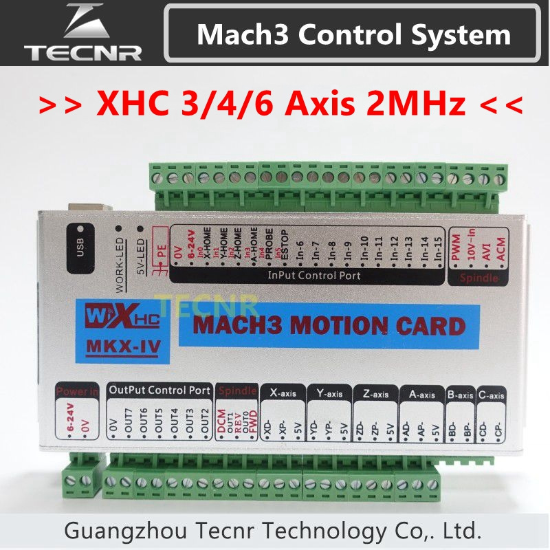 XHC MK4 Mach3 breakout board 3 4 6 axis USB motion control card 2MHz support windows