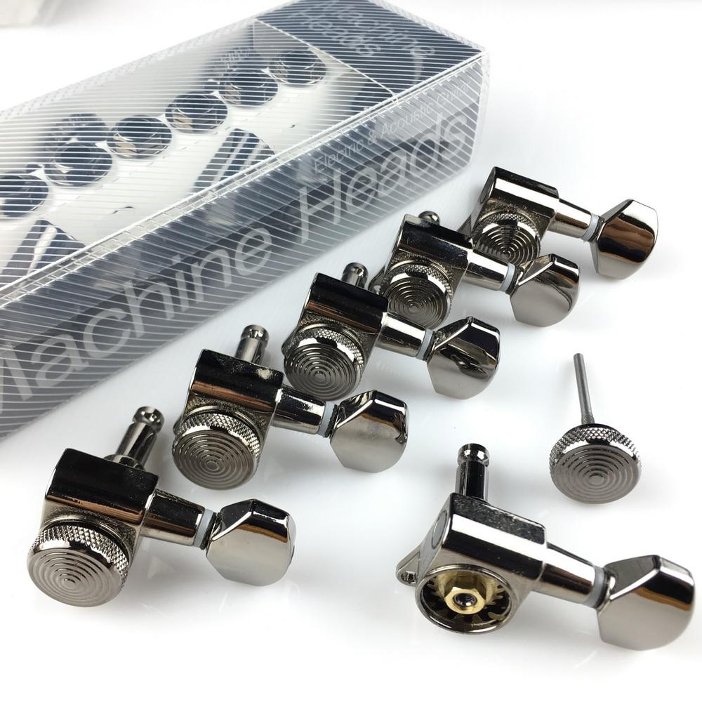 Novo cosmo preto guitarra bloqueio sintonizadores máquina da guitarra elétrica cabeças tuners JN-07SP bloqueio preto níquel tuning pegs