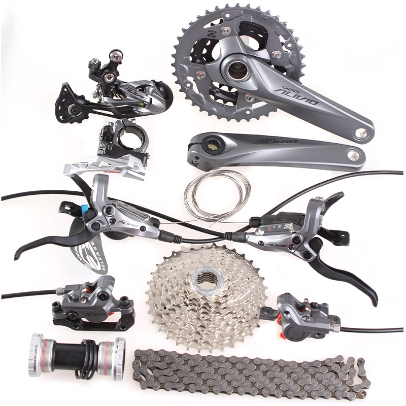 SHIMANO ALIVIO M4000 M4050 T4060 3x9S 27S speed MTB Bicycle groupset with hydraulic disc brake integrated shimano slx bl m7000 m675 hydraulic disc brake lever left right brake caliper mtb bicycle parts