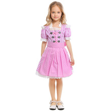 Umorden Child Kids Girl Beer Wench Costume German Maid Dirndl Bavarian Oktoberfest Cosplay Dress for Teen Girls Maiden