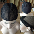 Double Lace Wig Caps For Making Wigs And Hair Weaving Stretch Adjustable Wig Cap Hot Black Dome Cap For Wig Hair Net