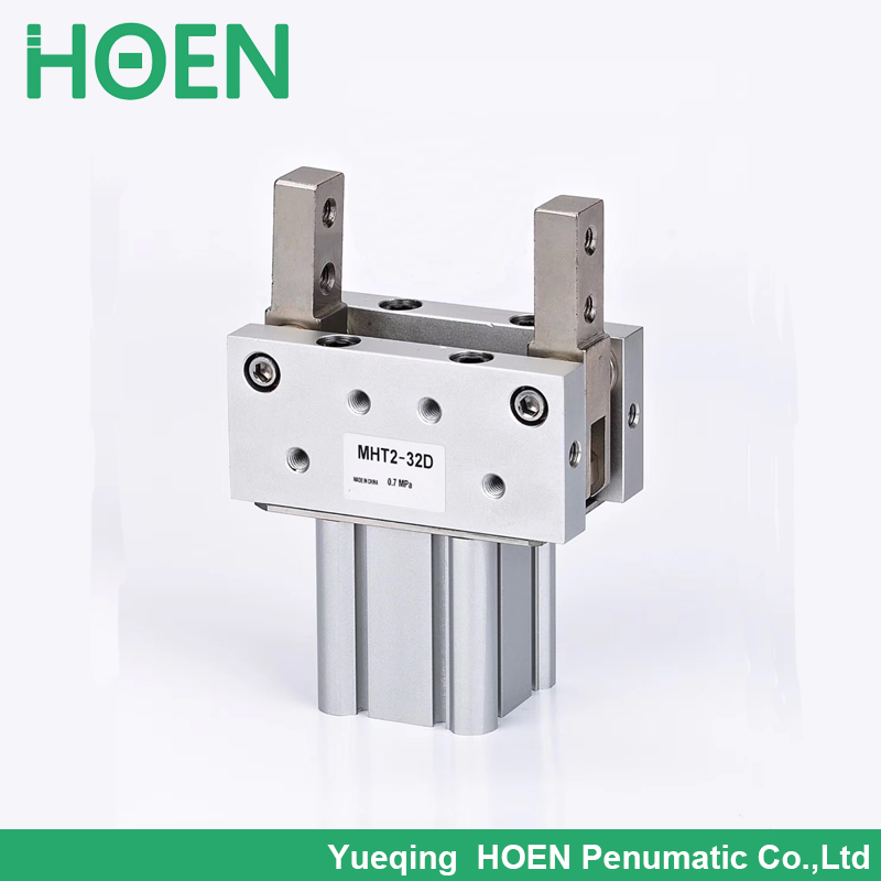 High quality MHT2 MHC2 MHY2 series MHT2-40D toggle type air gripper 2 finger double acting pneumatic robot gripper air cylinderHigh quality MHT2 MHC2 MHY2 series MHT2-40D toggle type air gripper 2 finger double acting pneumatic robot gripper air cylinder