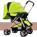 Carrinhos carrinho de Bebê Luz pode sentar pode deitar carrinhos de Guarda-chuva carro Ultra-leve portátil dobrável infantil