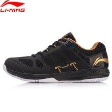 Li-Ning/Мужская защитная обувь для бадминтона, тренировочная обувь, пригодно для носки, противоскользящая подкладка, дышащая спортивная обувь, кроссовки, AYTN043 XYY088