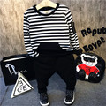 Tide clothes shop is the new children's wear winter 2016 boys thickening and velvet stripe two-piece outfit