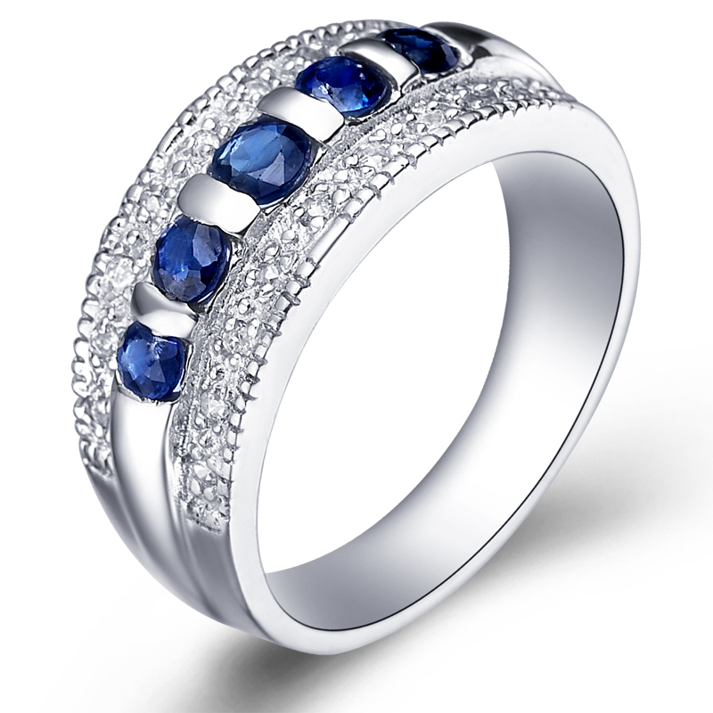 Natural Sapphire Night Blue Ring 925 Sterling silver Luxury Woman Fashion Fine Elegant Jewelry Queen Birthstone Gift SR0041S natural pink ruby ring flower in 925 sterling silver fancy sapphire jewelry fashion elegant luxury birthstone gift sr0159r