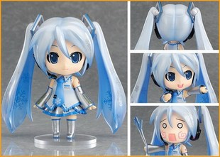 1set 10cm pvc Japanese anime figure Nendoroid 97#  Hatsune Miku Snow ver action figure collectible model toys brinquedos 1pcs 10cm nendoroid anime hatsune miku sakura miku q ver pvc action figure collection model toy doll christmas gifts with box