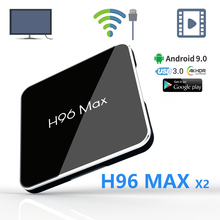 android tv set-top box Amlogic S905X2 youtube 4K Support 2.4/5G Bluetooth 8 Smart Internet Media Player H96 MAX X2