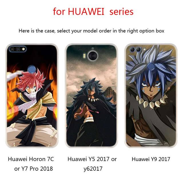 Fairy Tail Case FOR Huawei Mate 10 20 30 Lite 20X 10 Pro Nova 3 4 5i Y7 Y9 2019 2018