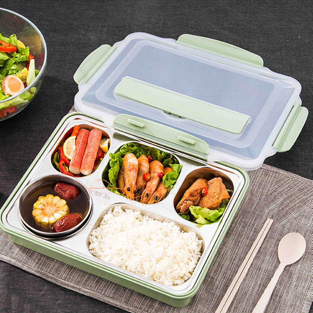 Fashion Portable Dinner Lunch Box Stainless Steel Bento Box ,Food Container Box For Kids Picnic Office Workers School