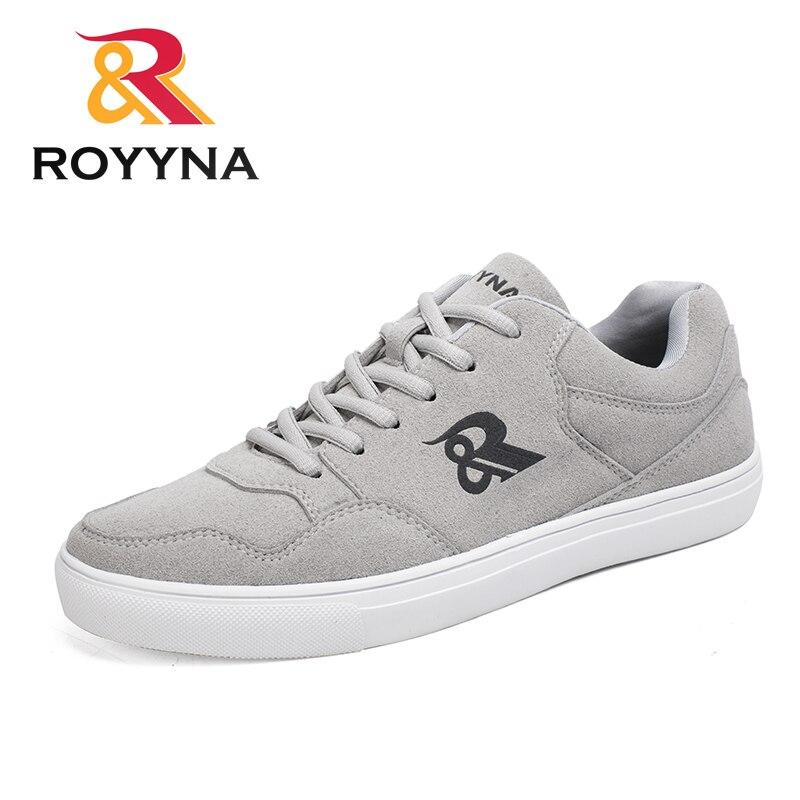 ROYYNA Mais Novo Estilo Men Casual Shoes Lace Up Flock Superior Flatform  Confortável Respirável Zapatillas Hombre Frete Grátis Fast f40d8acd9f31e