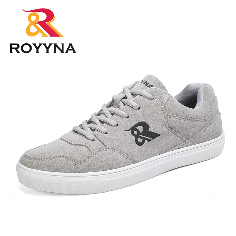 ROYYNA Newest Style Men Casual Shoes Lace Up Flock Upper Comfortable Breathable Flatform Zapatillas Hombre Free Fast Shipping
