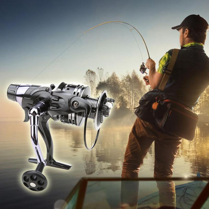 Carrete de pesca de aleación de aluminio 11 + 1BB sistema de freno Dual carrete de pesca de cebo para pesca de mar de carpa 3000/6000/5000/4000 Series