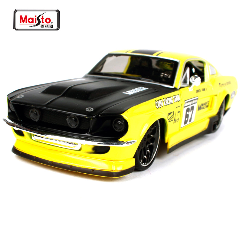 Maisto 1:24 1967 Ford Mustang GT Involving Cars Muscle Car Diecast Model Car Toy New In Box Free Shipping 31094 image