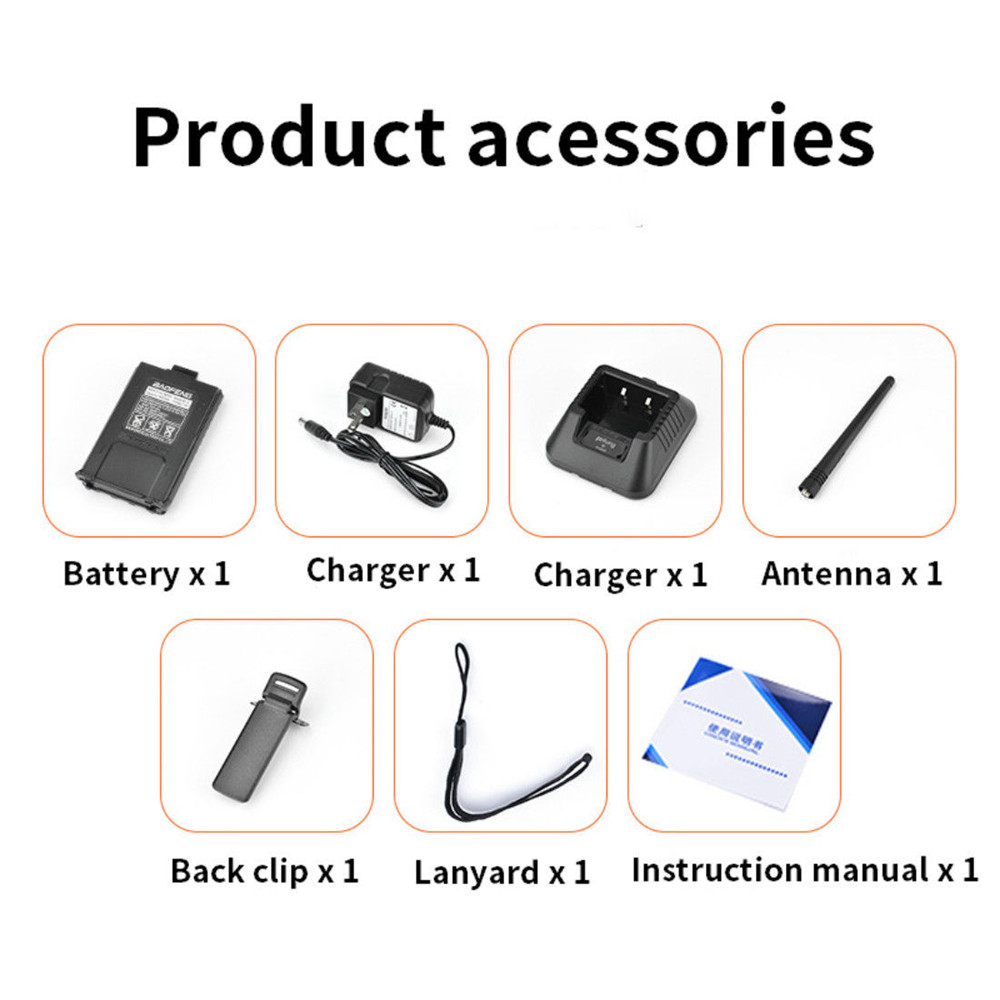 Image 5 - BF UV5R Walkie talkie Manual Frequency Modulation 10KM Communication Distance 5W Power UV Dual frequency Security Walkie Talkie-in Walkie Talkie from Cellphones & Telecommunications