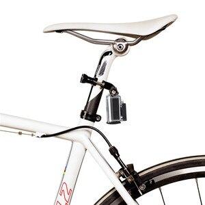 Image 3 - مقود الدراجة جبل ل GoPro المقعد المشبك للدراجات مسامير معدنية 3 Way تعديل محور الذراع ل الذهاب برو الرياضة كاميرا