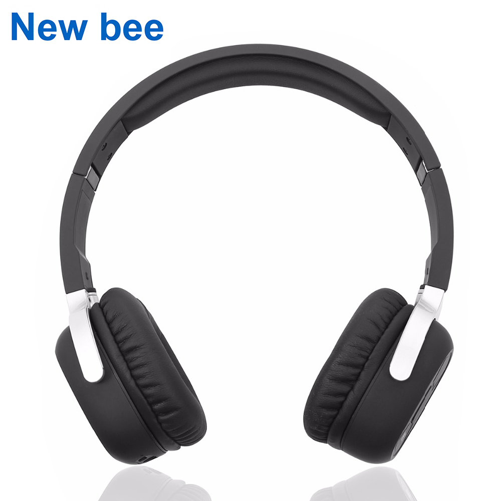 New Bee Wireless Bluetooth Headphones with Mic NFC Sport Bluetooth Headset with App Stereo Earphone for Phone Computer TV new bee nb 6 foldable bluetooth headset red