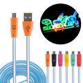 LED Micro USB Cable 1M Light Durable Micro USB Charger Data Sync Cord for Samsung for Android Phone Smile Mini USB Cable