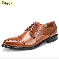 Sapato Masculino dei Nuovi Uomini di Vera Pelle di vacchetta Oxford Scarpe Comode Soletta Allacciatura Vestito Da Affari Uomo Cerimonia Nuziale di Alta Qualità