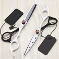 Новый профессиональный 6.0 дюймов Новые ножницы комплект ножницы для резки истончение ножницы парикмахера парикмахерские ножницы scharen инструменты