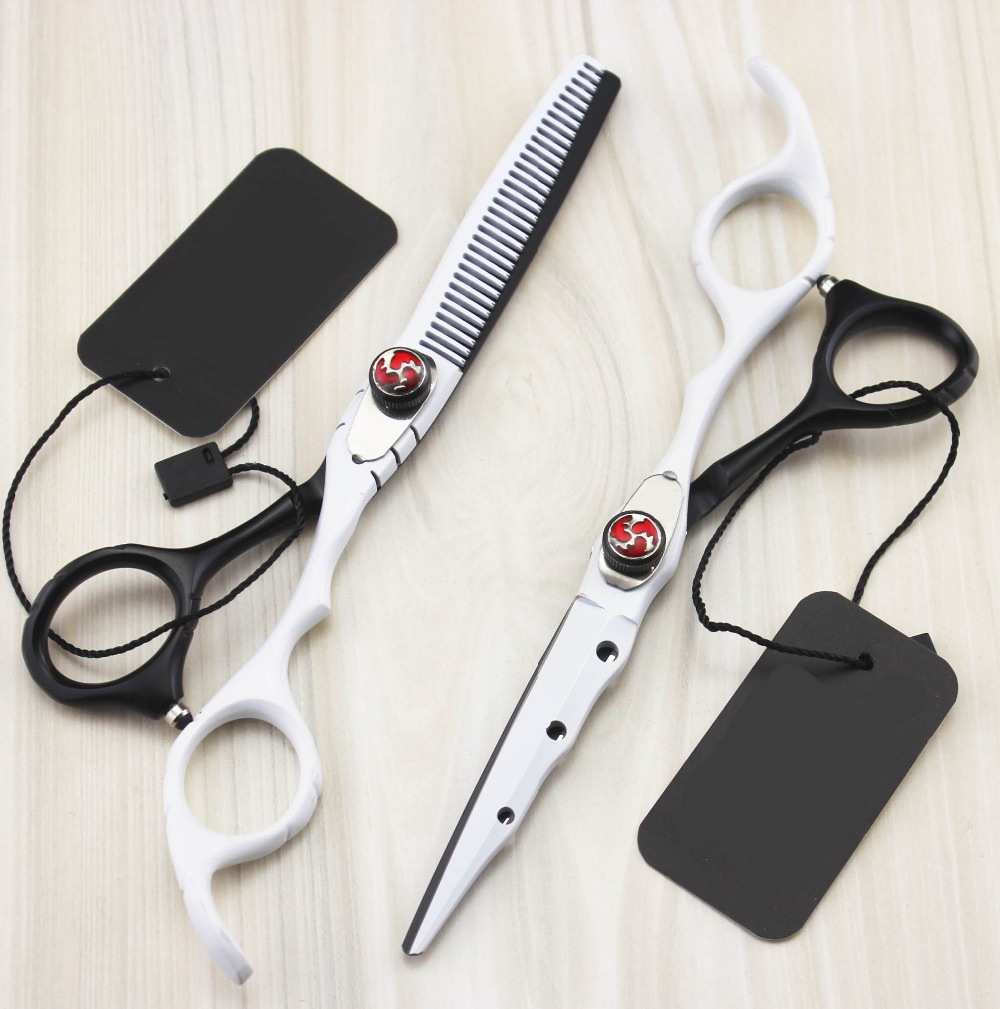 New professional 6.0 inch New hair scissors set cutting shears thinning scissors barber hairdressing scissors scharen tools new 50pcs pack paramedic trauma shears scissors bandage scissors first aid 7 08