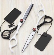 professional 6.0 inch New hair scissors set hair cutting shears thinning scissors set barber hairdressing scissors scharen tools цена
