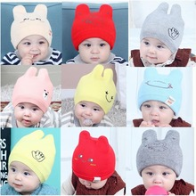 New Children Toddler Kids Baby Warm Winter Wool Knit Beanie Fur Pom Pom Bobble Hat Cap Winter Warm Hat 0-24M цены