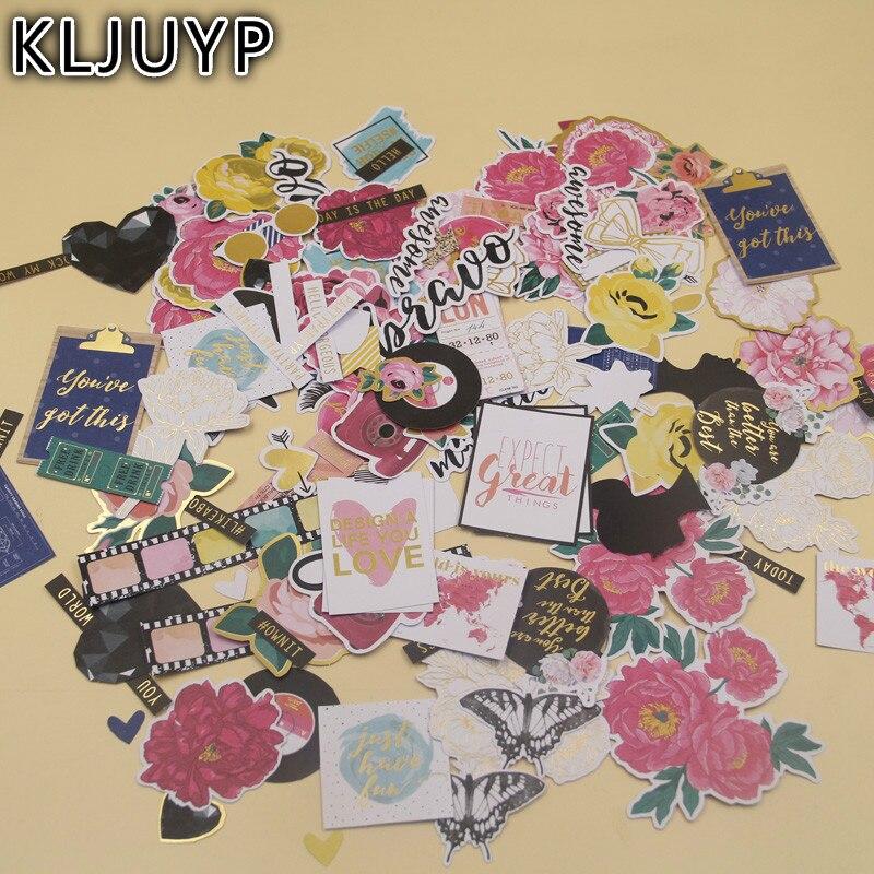 KLJUYP 136 pcs Rose Fleurs Carton Découpes pour Scrapbooking Heureux Planificateur/Fabrication De Cartes/Journalisation Projet