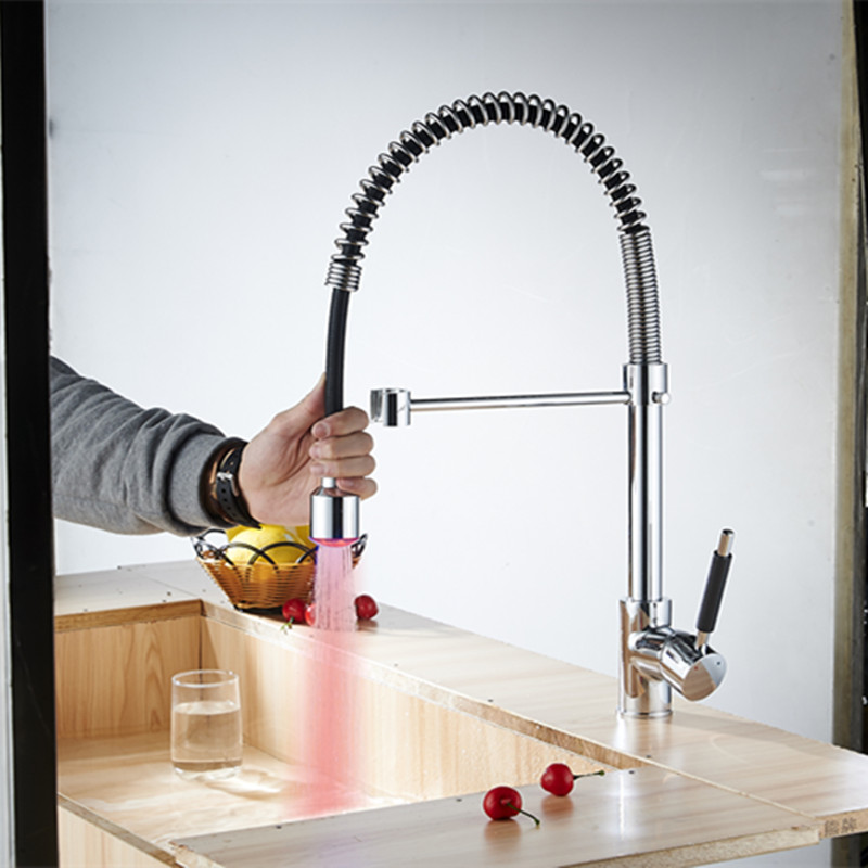 cucina kitchen faucets colored kitchen faucets grifo cocina extraible rubinetto cucina pull out bateria kuchenna led 392