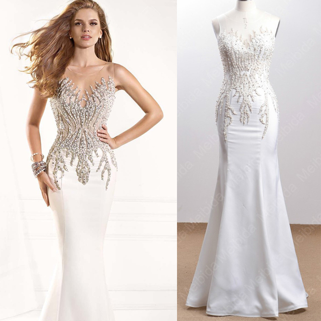 Real Photo 2015 Luxury Crystal Mermaid Long Prom Dress Cap Sleeve Online Formal  Women Dresses To Party Over Vestido de Festa aed3ef5a926c