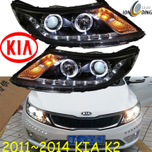 KlA K2 headlight,2011~2014 (Fit for LHD and RHD),Free ship!KlA K2 daytime light,2ps/se+2pcs Aozoom Ballast;K2 Taillight,Rio