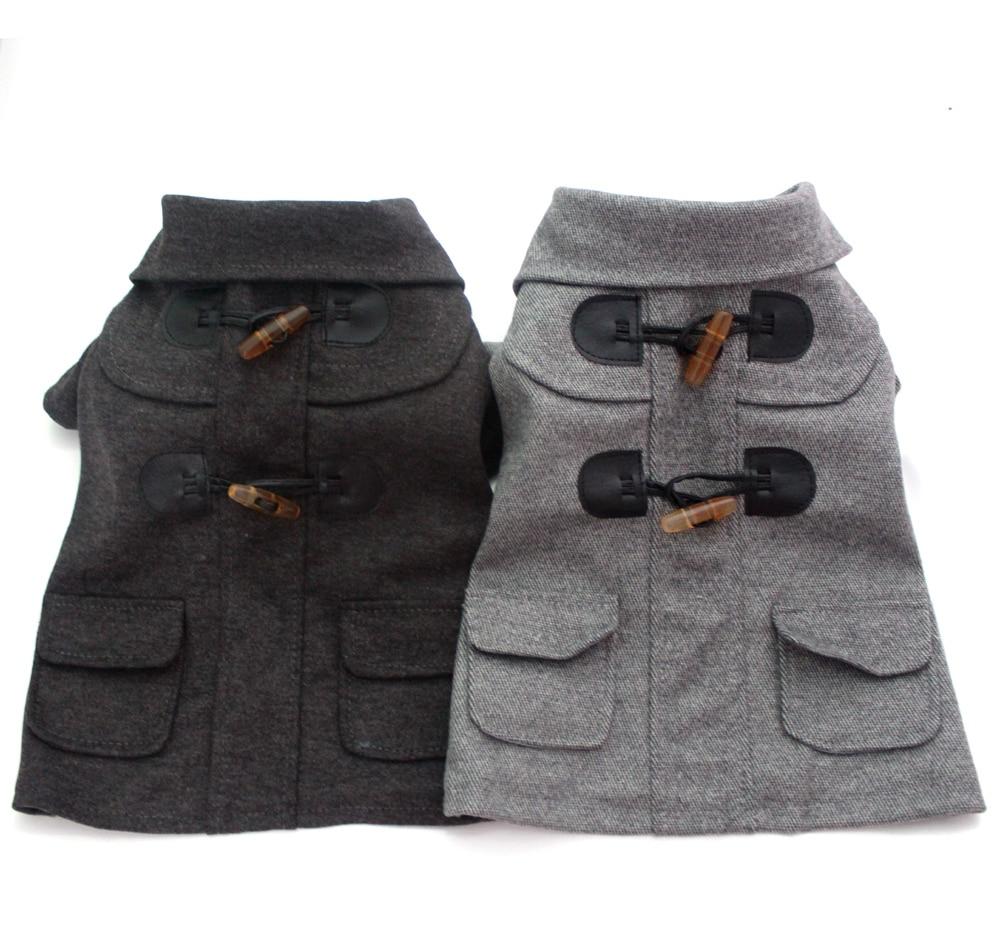 Boy Dog Cat hoody Suit Pet Puppy Coat Jacket clothes Pocket&Buttons design,5 sizes