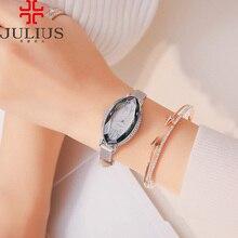 Lady Women's Watch 5 Colors Japan Quartz Cutting Hours Fine Fashion Dress Bracelet Leather Crystal Valentine Gift Julius