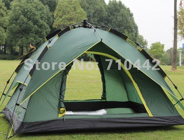 Free shiping by EMS or DHL High Quality Tent, Camping UV Automatic Beach Tent Fishing Tent For 3-4 Person,