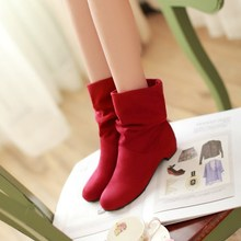 New Women Flat Casual Shoes Student Lady Martin Boots Leisure Knight Ankle Boots Woman Flats Shoes