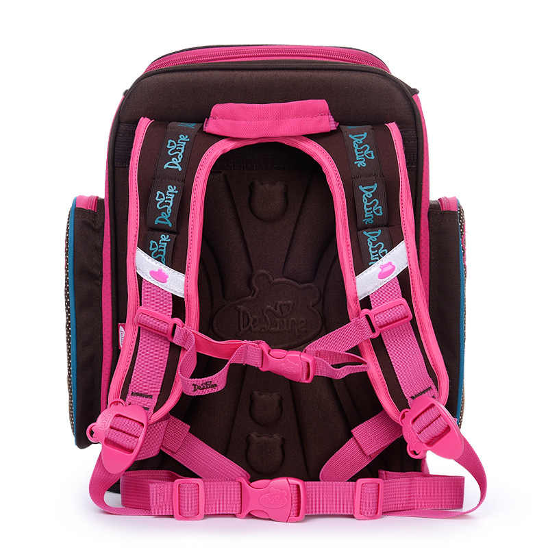 Delune 2018 Новая европейская детская школьная сумка для мальчиков и девочек рюкзак Мультфильм Mochila Infantil большой Ёмкость ортопедические школьный