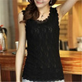 Women Tank Tops Fashion Lace Women's Tank Crochet Embroidery  Summer Casual Blouse Camisole Sleeveless Shirt For Female