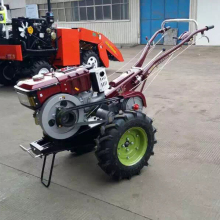 12HP мощный фермерский двухколесный трактор с фарой