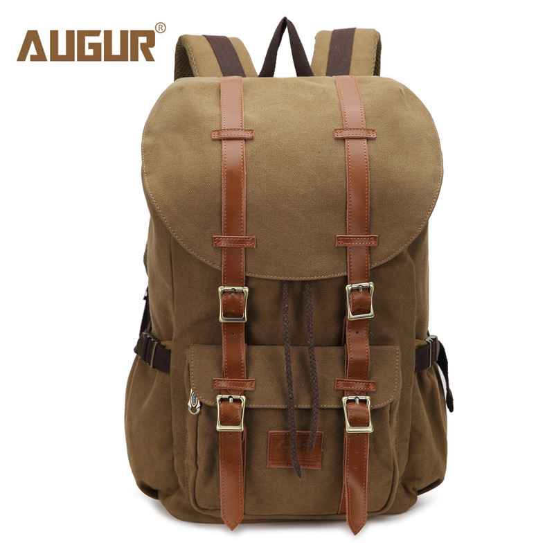 AUGUR New Men Backpack Canvas Large Backpack Travel Bags Men/Women Vintage Backpacks for Teenagers Boys Girls Casual School Bag стоимость