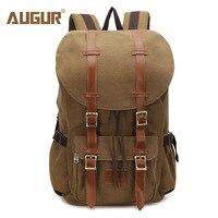 AUGUR New Men Backpack Canvas Large Backpack Travel Bags Men/Women Vintage Backpacks for Teenagers Boys Girls Casual School Bag
