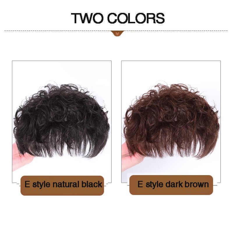 DIFEI для женщин кудрявые синтетические замена волос короткая застежка для наращивания волос натуральный верхнее покрытие для волос