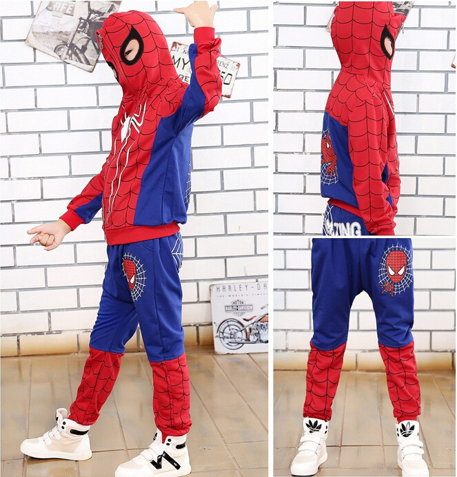 Children Spiderman Baby Boys Clothing Sets Sport Suit For Boys Clothes Spring Spider Man Cosplay Kids Costumes Clothes 2017 New spider man style surfing clothes for 3 10y little boys kids one piece beachwear swimwear high quality children clothing