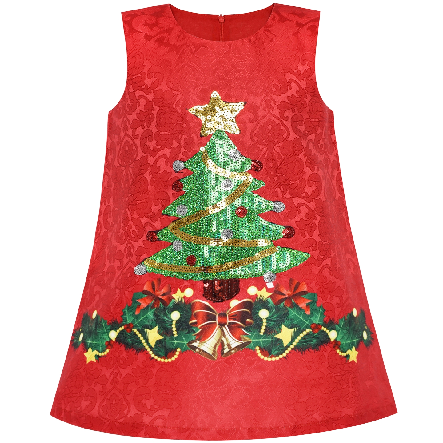 6f9ae62aed1 US $5.05 49% OFF|Flower Girl Dress A line Christmas tree Xmas Sequin  Sparkling Holiday Party 2019 Summer Princess Wedding Dresses Kids  Clothes-in ...