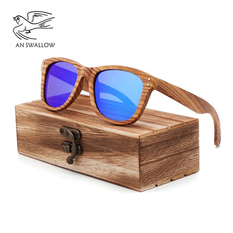 100% vraies lunettes de soleil en bois de zèbre femmes mode lunettes de soleil pur bois hommes polarisées nuances pour femmes UV400 rétro lunettes de soleil